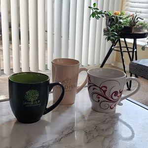 3 Large Mugs